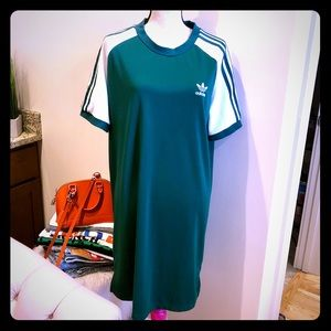 Adidas Originals Women's Trefoil Tee Dress Green